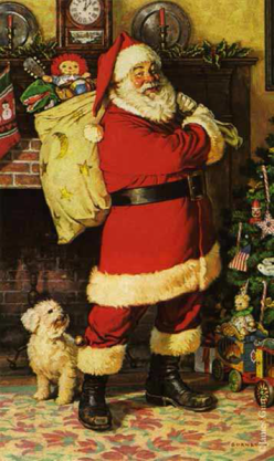 Santa's modern day image.